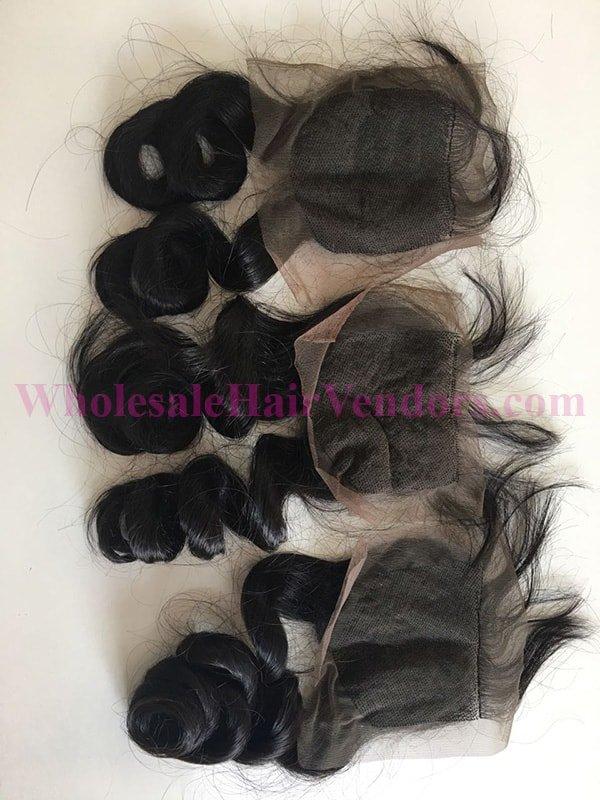 Natural Black body wavy lace closure