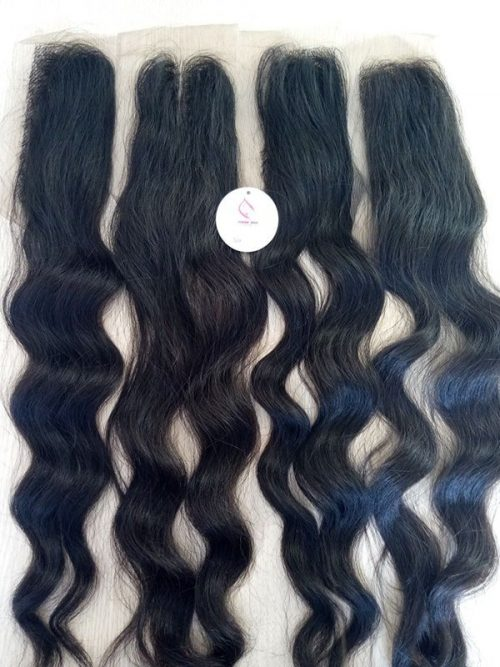 22″ Natural wavy lace closure 2×6