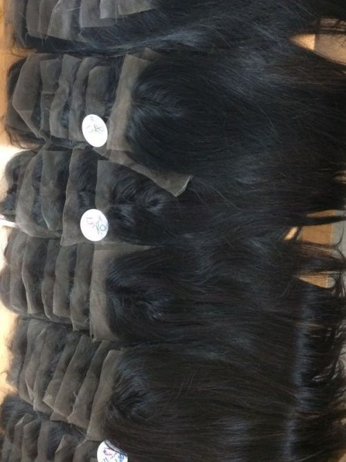 Straight closure 4×4 inches with center part